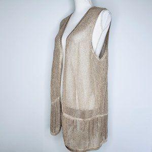 NWT Chico's Traveler's Collect. Metallic Gold Vest